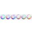transparent colored soap bubbles vector image vector image