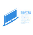 tv screen icon isometric template for web design vector image