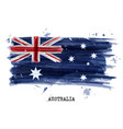 watercolor painting flag australia vector image