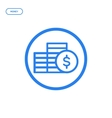 flat bold line coins icon vector image