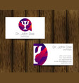 psychology visit card modern logo vector image