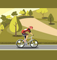 sport athlete cyclist in park vector image