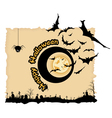 Abstract Halloween night background vector image vector image