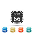 american road icon route sixty six road sign vector image