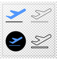ariplane takeoff eps icon with contour vector image