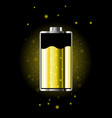battery charge status with lighting vector image vector image