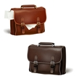Black and brown leather briefcases vector image