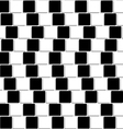 Black and white tiles optical seamless vector image