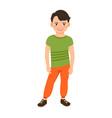 boy in spring clothes vector image vector image