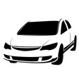 car icon hatchback symbol black on vector image