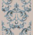 classic baroque ornament blue watercolor decor vector image vector image