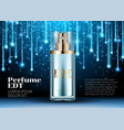 classic perfume contained in a luxury beautiful vector image vector image