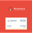 cloud sharing logo design with business card vector image