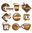 coffee shop isolated icon drink cup takeaway vector image vector image