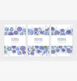 collection floral card or flyer templates vector image vector image