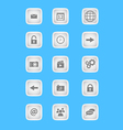 collection icons for phone applications and web vector image vector image