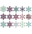 Collection of patch snowflakes Easy to change vector image vector image