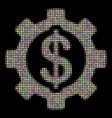development cost halftone mosaic of circles vector image vector image