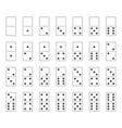 dominoes tiles set domino bones full set vector image