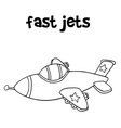 Fast jet art hand draw vector image vector image