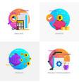 flat designed concepts - analysis savings vector image vector image