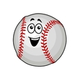 Fun happy baseball ball vector image vector image