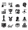 genius smart icons set vector image vector image