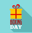 gift boxing day logo set flat style vector image vector image