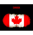 Grunge Canada flag vector image