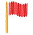 halftone dot waving flag icon vector image vector image