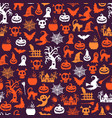 halloween pattern background with witches vector image vector image