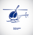 Helicopter 4 vector image