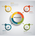 info graphic with round colored design elements vector image vector image