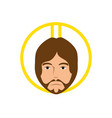 jesuschrist face cartoon vector image vector image