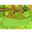Jungle forest cartoon vector image vector image