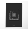 labyrinth poster abstract geometric design vector image