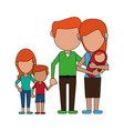 lovely family cartoon vector image vector image