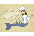 mermaid chef vector image vector image