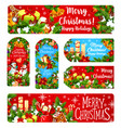 merry christmas wish greeting banner card vector image vector image