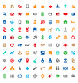 Multicolored icons and signs vector image vector image