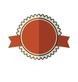 New red vintage badge vector image vector image
