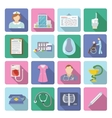 Nurse Icon Flat Set vector image