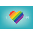 rainbow shape of heart love abstract background vector image