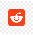 reddit social media icon design template vector image vector image