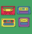 retro feel audio cassettes set vector image