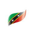saint kitts and nevis flag on vector image