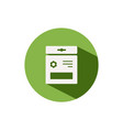 seed bag icon on a green circle spring vector image vector image