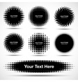 Set of 7 Abstract Halftone Design Elements vector image