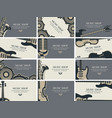 set of business cards with musical instruments vector image vector image