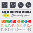 Shopping cart icon sign Big set of colorful vector image vector image